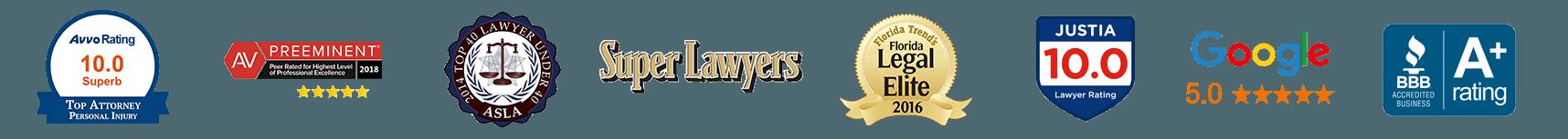 St Petersburg Criminal Defense Attorney Sean McQuaid Awards