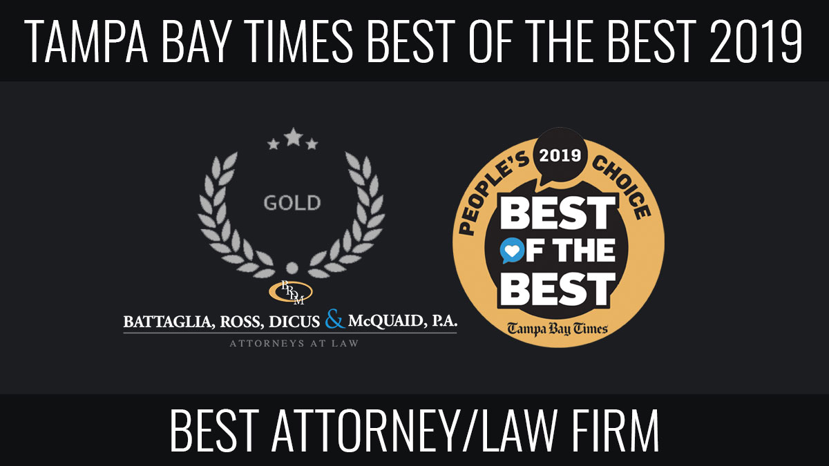 Tampa Bay Times Best of the Best Winner for Best Attorney Law Firm